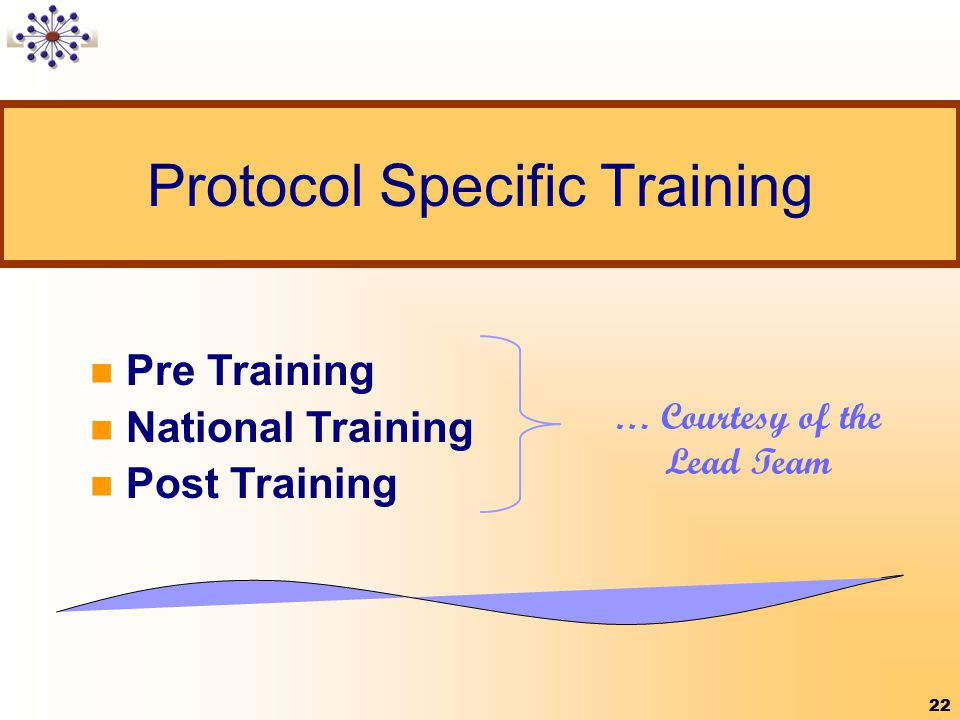 Protocol Specific Training