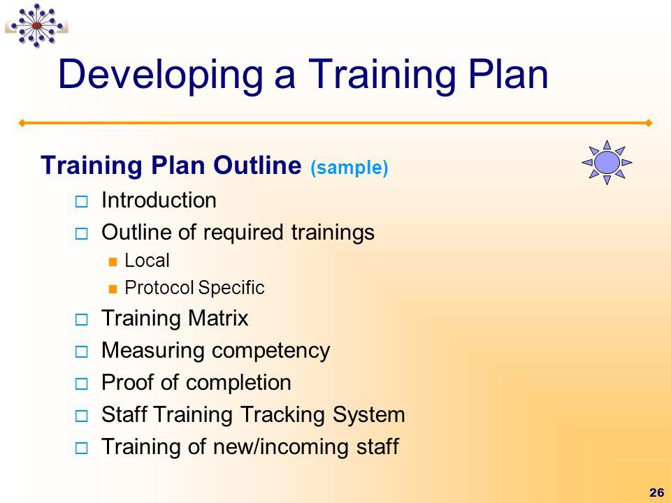 Developing a Training Plan