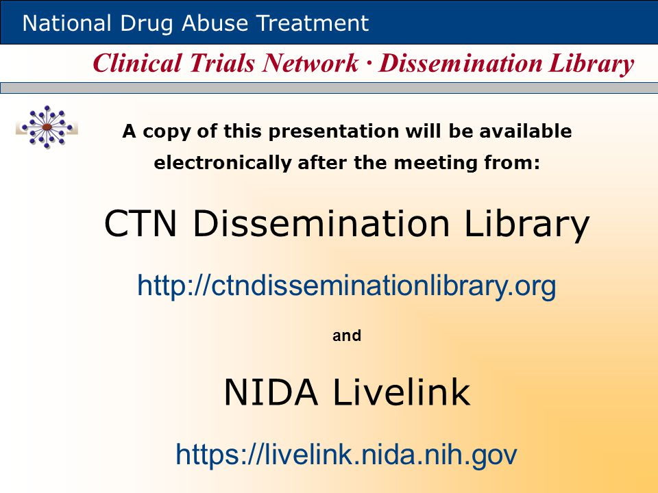 Clinical Trials Network ∙ Dissemination Library