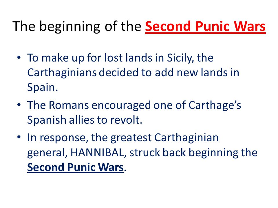 The beginning of the Second Punic Wars
