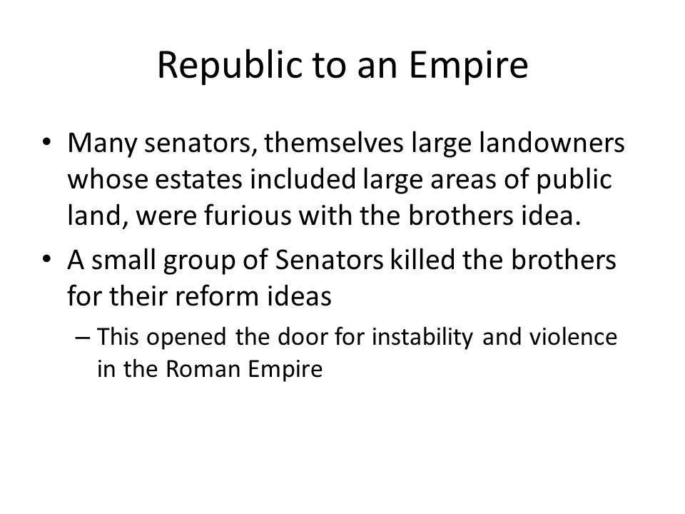 Republic to an Empire