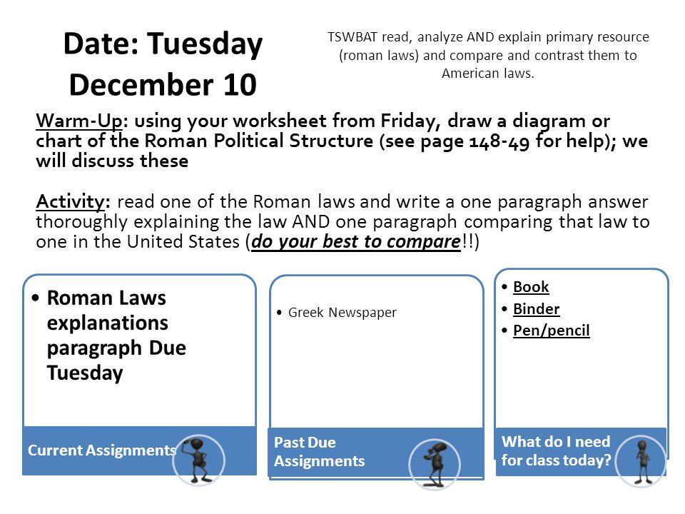 Date: Tuesday December 10