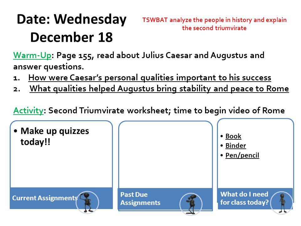 Date: Wednesday December 18