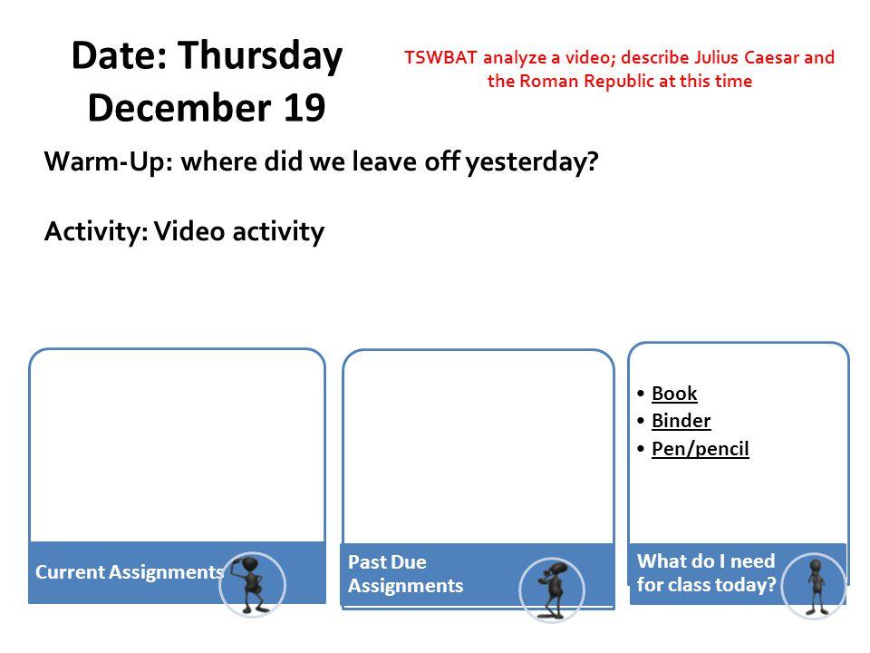 Date: Thursday December 19
