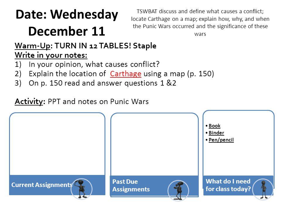 Date: Wednesday December 11