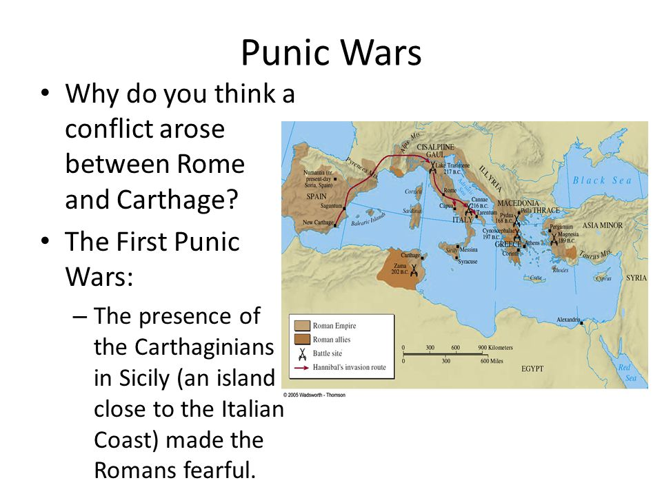 Punic Wars Why do you think a conflict arose between Rome and Carthage The First Punic Wars: