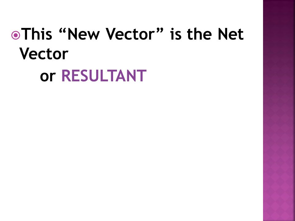 This New Vector is the Net Vector