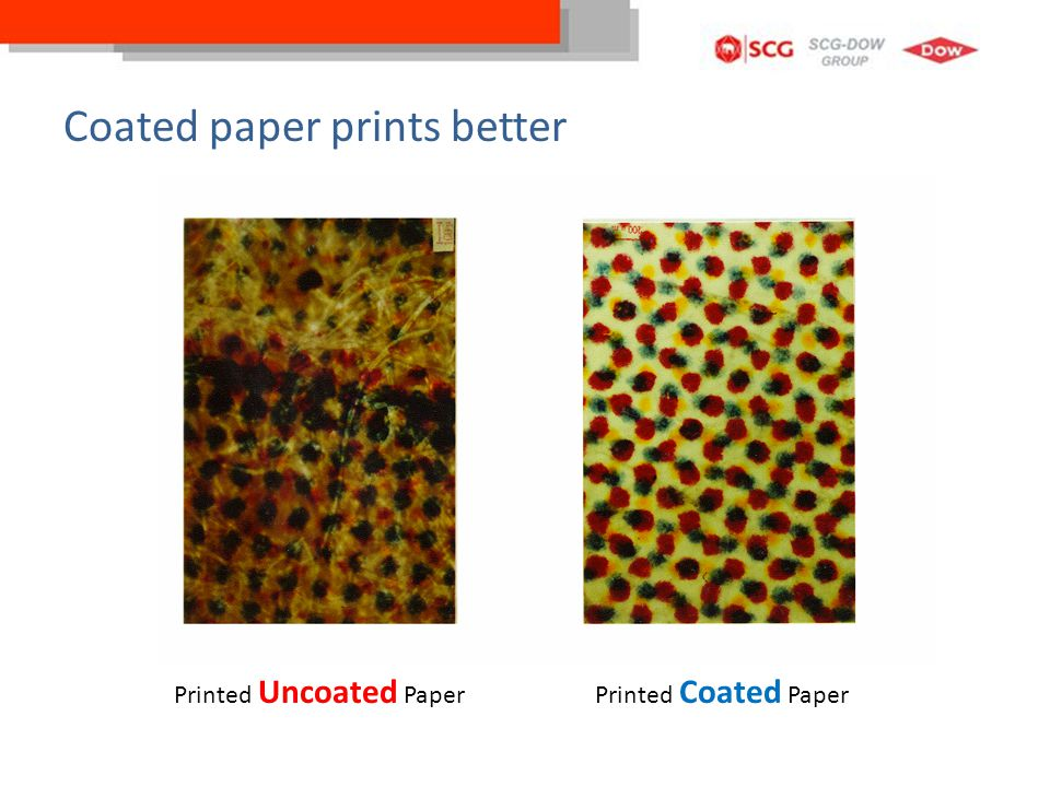 Coated paper prints better