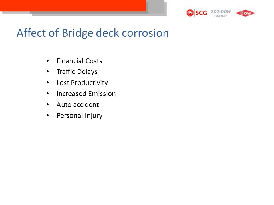 Affect of Bridge deck corrosion