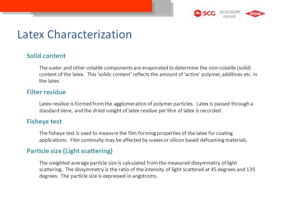 Latex Characterization