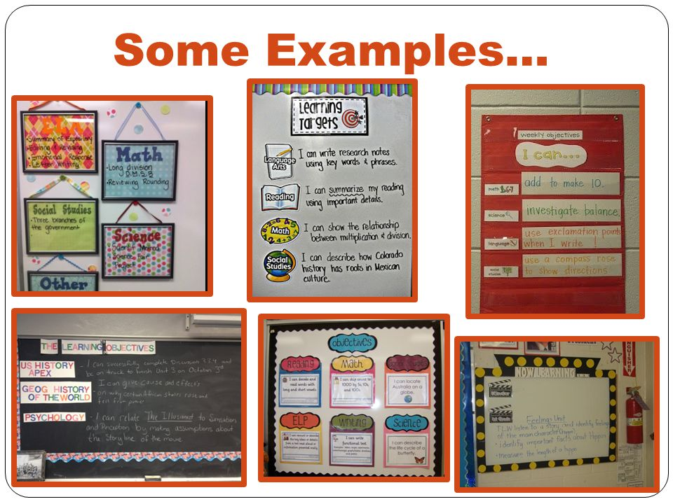 Some Examples…