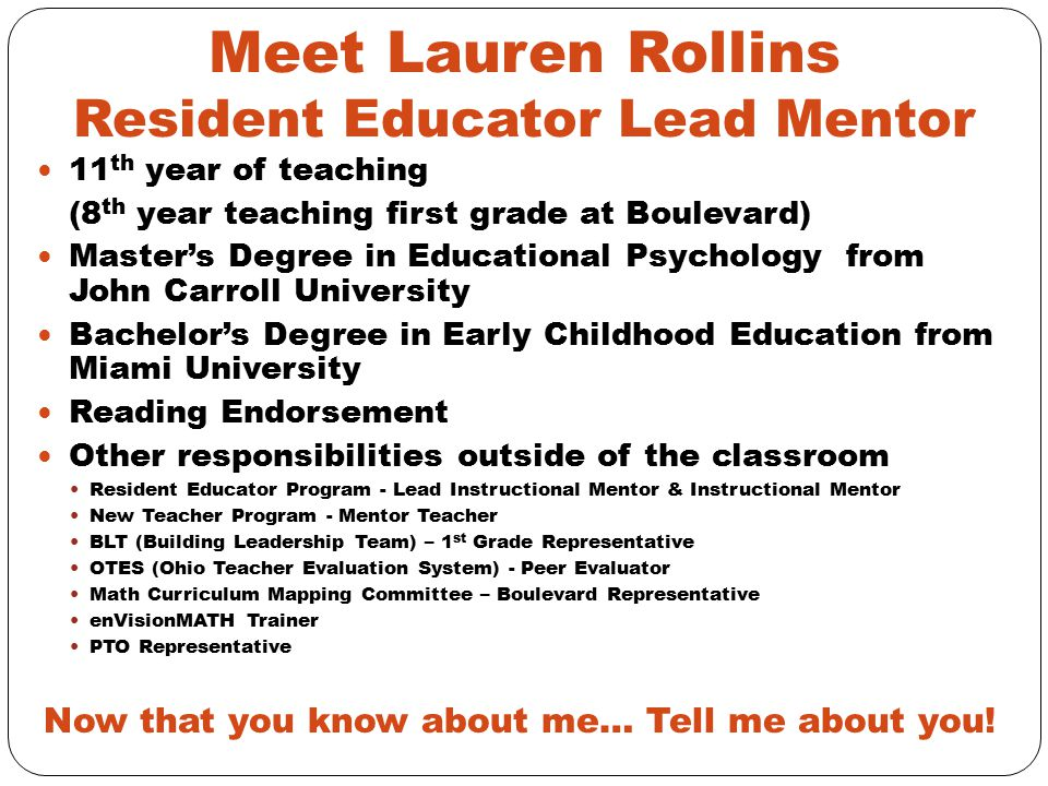 Meet Lauren Rollins Resident Educator Lead Mentor