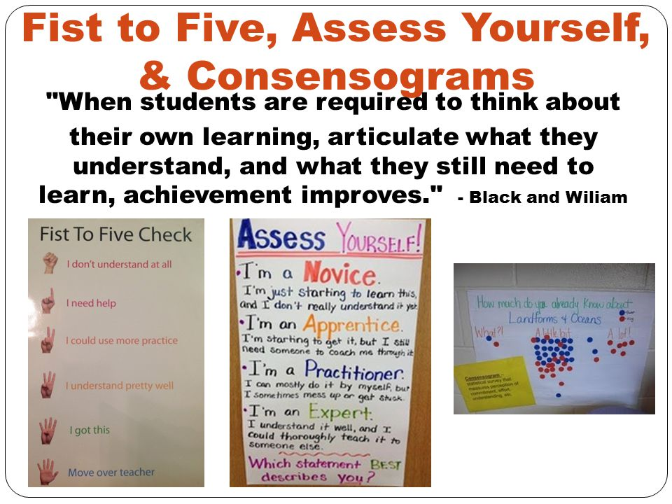 Fist to Five, Assess Yourself, & Consensograms