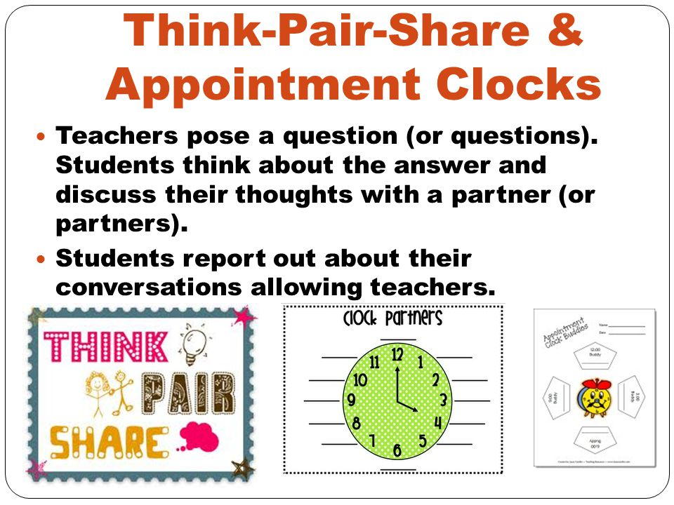 Think-Pair-Share & Appointment Clocks
