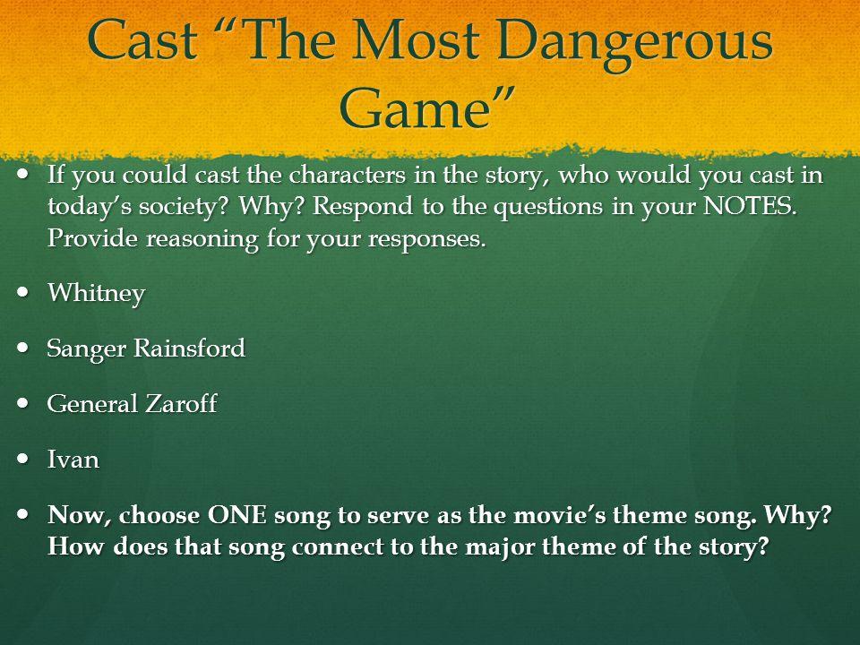 Cast The Most Dangerous Game
