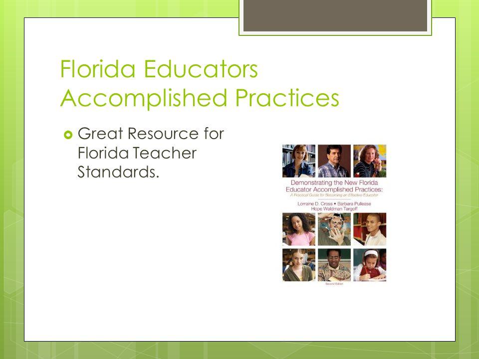 Florida Educators Accomplished Practices