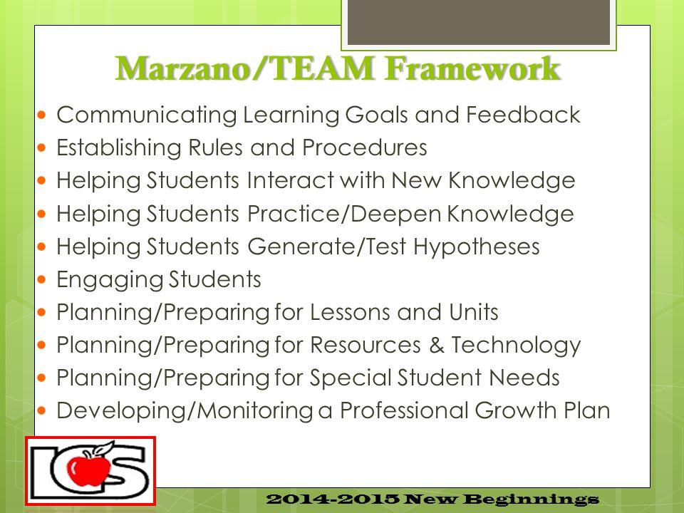 Marzano/TEAM Framework