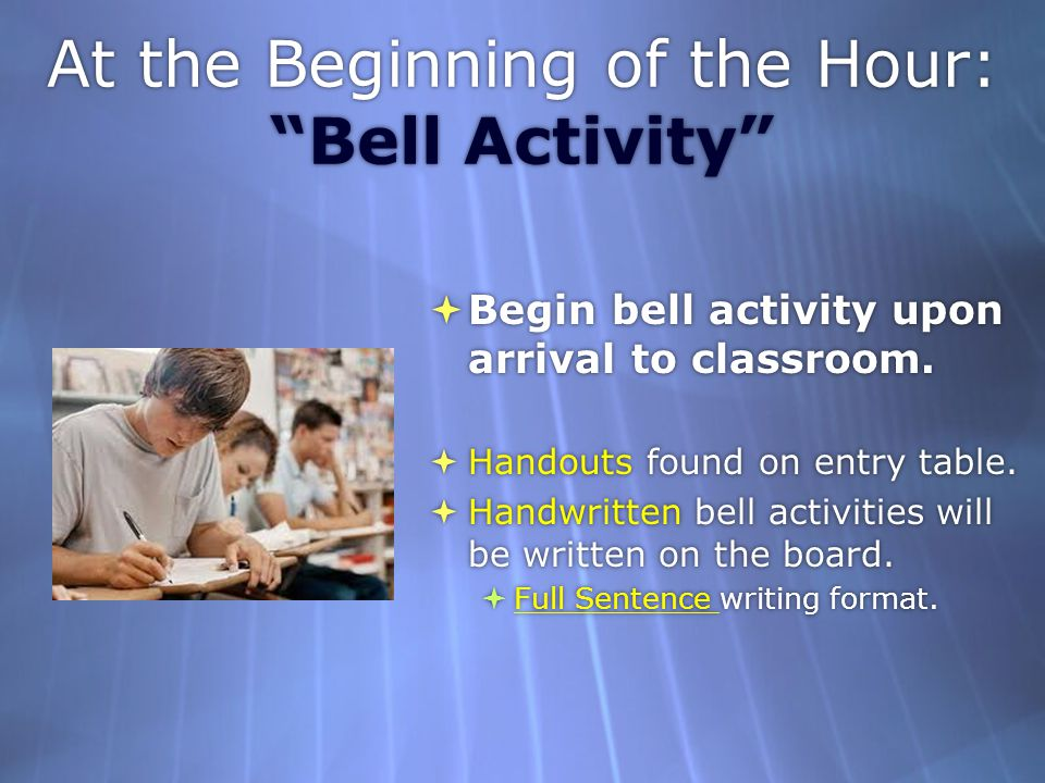At the Beginning of the Hour: Bell Activity