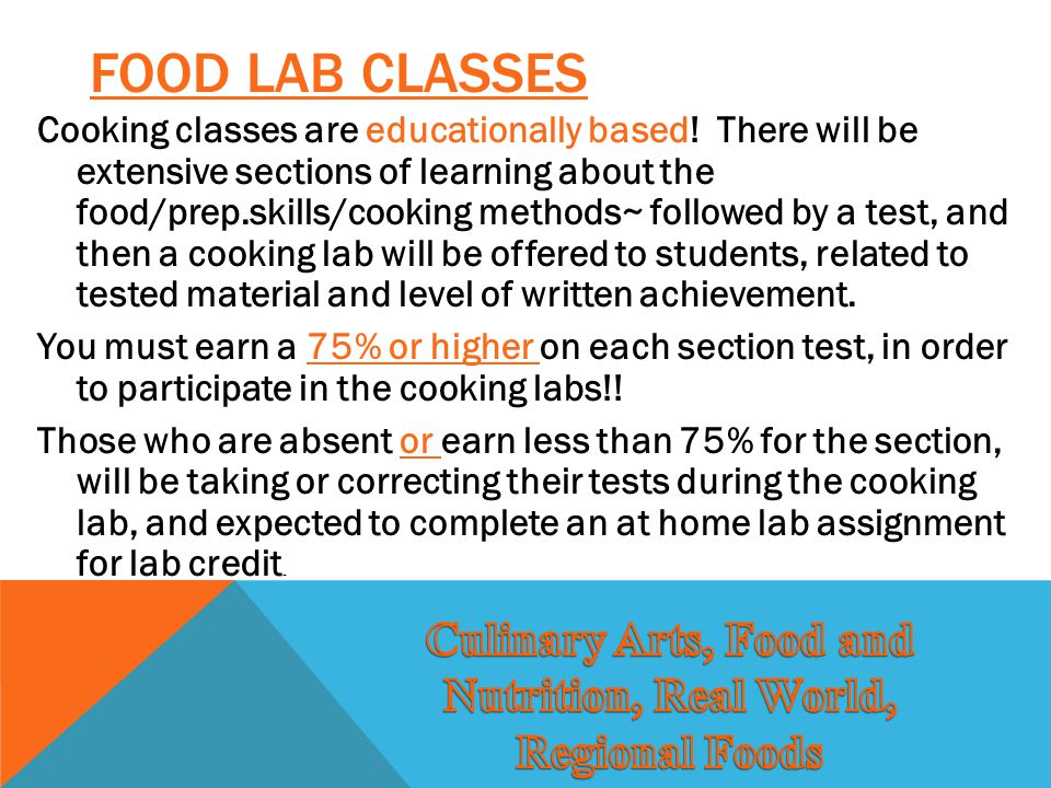Culinary Arts, Food and Nutrition, Real World, Regional Foods