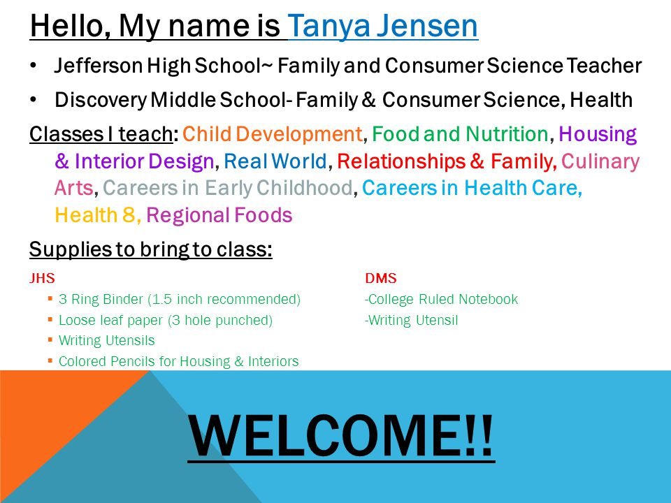 Welcome!! Hello, My name is Tanya Jensen