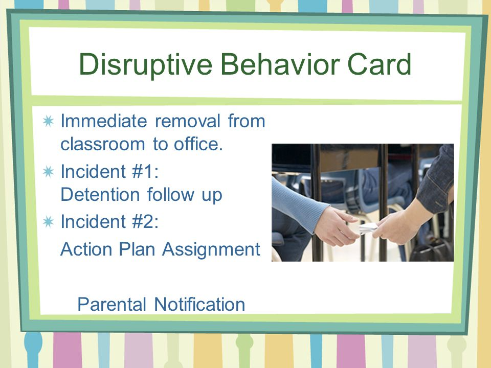 Disruptive Behavior Card
