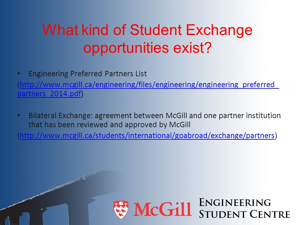 What kind of Student Exchange opportunities exist