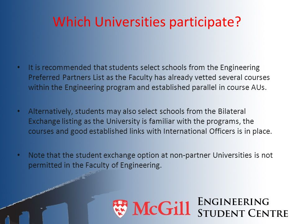Which Universities participate