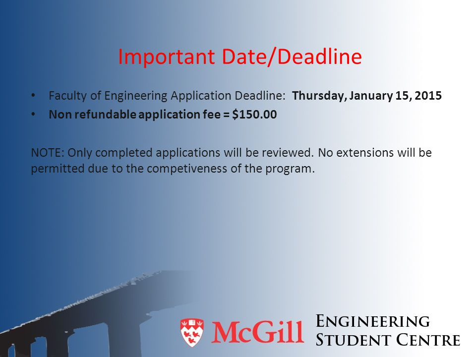 Important Date/Deadline