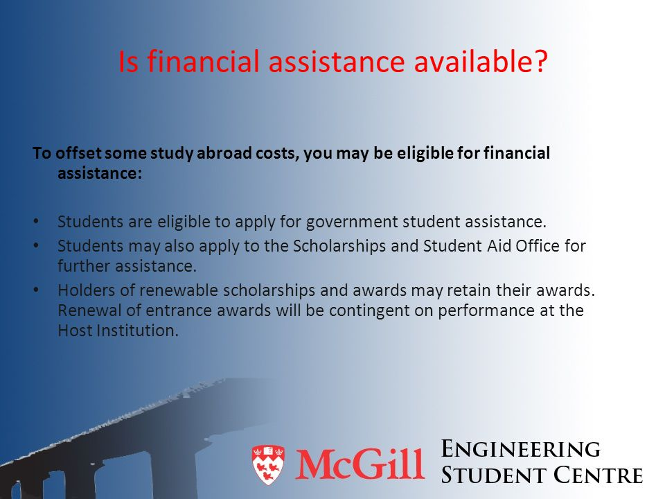 Is financial assistance available