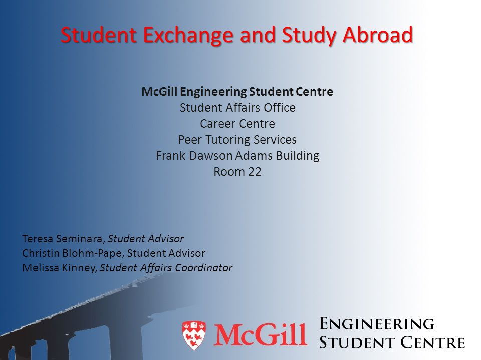 Student Exchange and Study Abroad