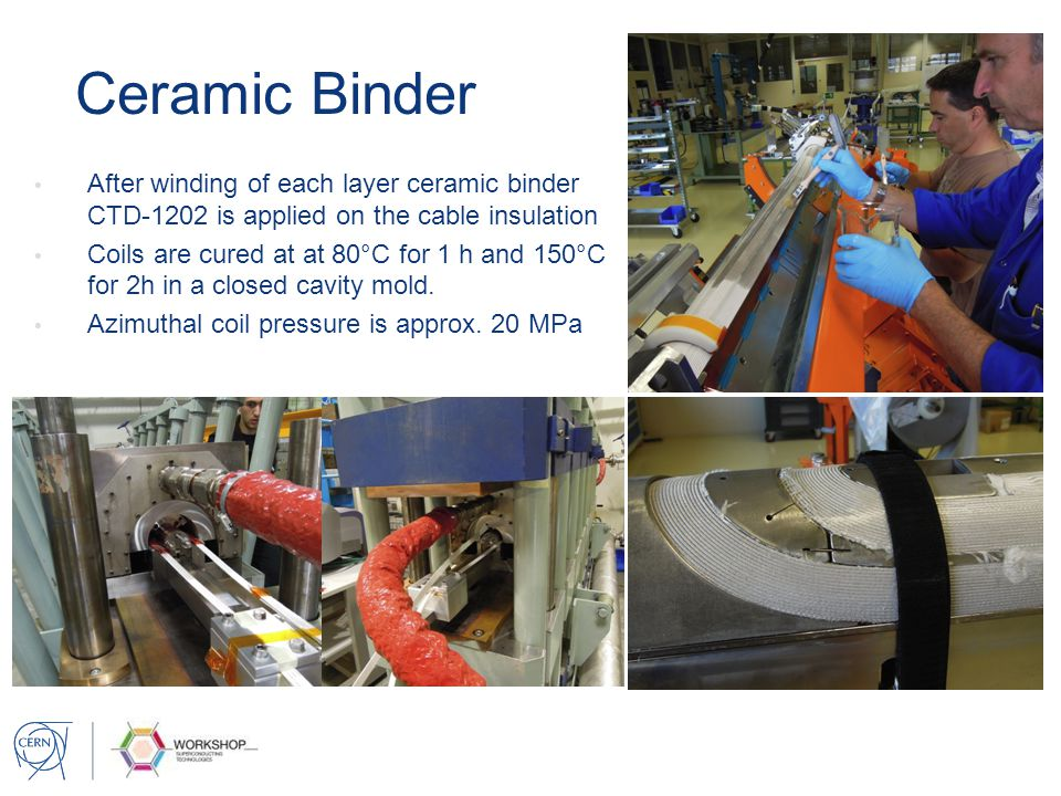Ceramic Binder After winding of each layer ceramic binder CTD-1202 is applied on the cable insulation.