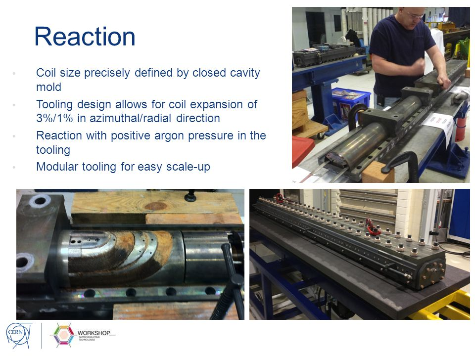 Reaction Coil size precisely defined by closed cavity mold