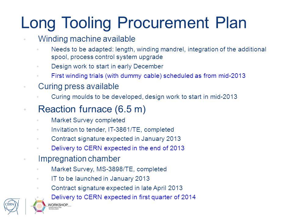 Long Tooling Procurement Plan