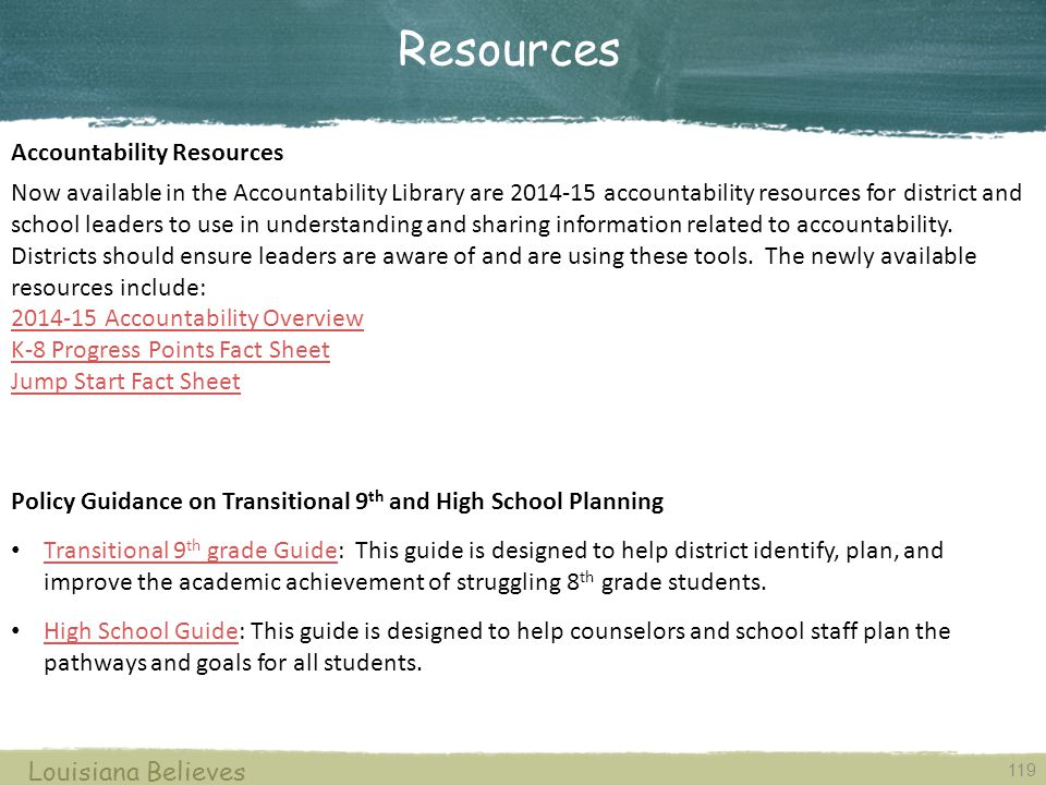 Resources Accountability Resources