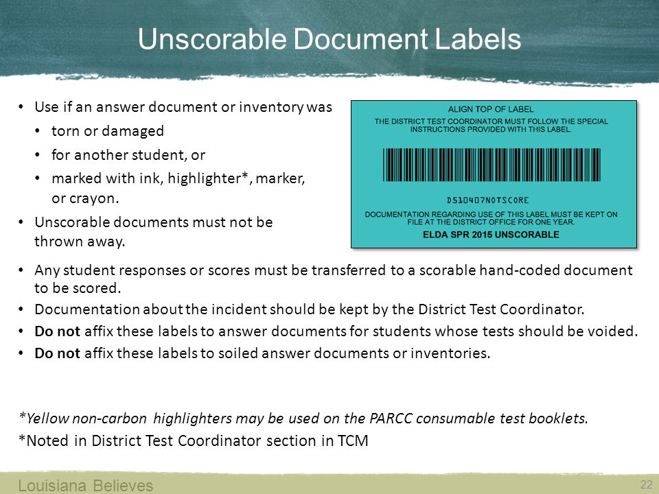 Unscorable Document Labels