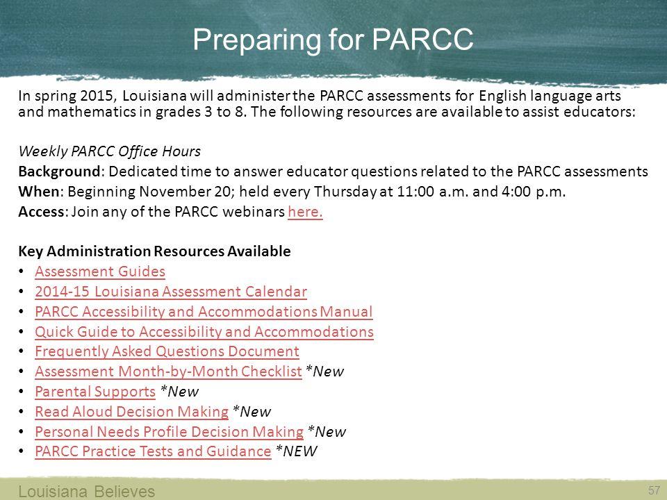 Preparing for PARCC