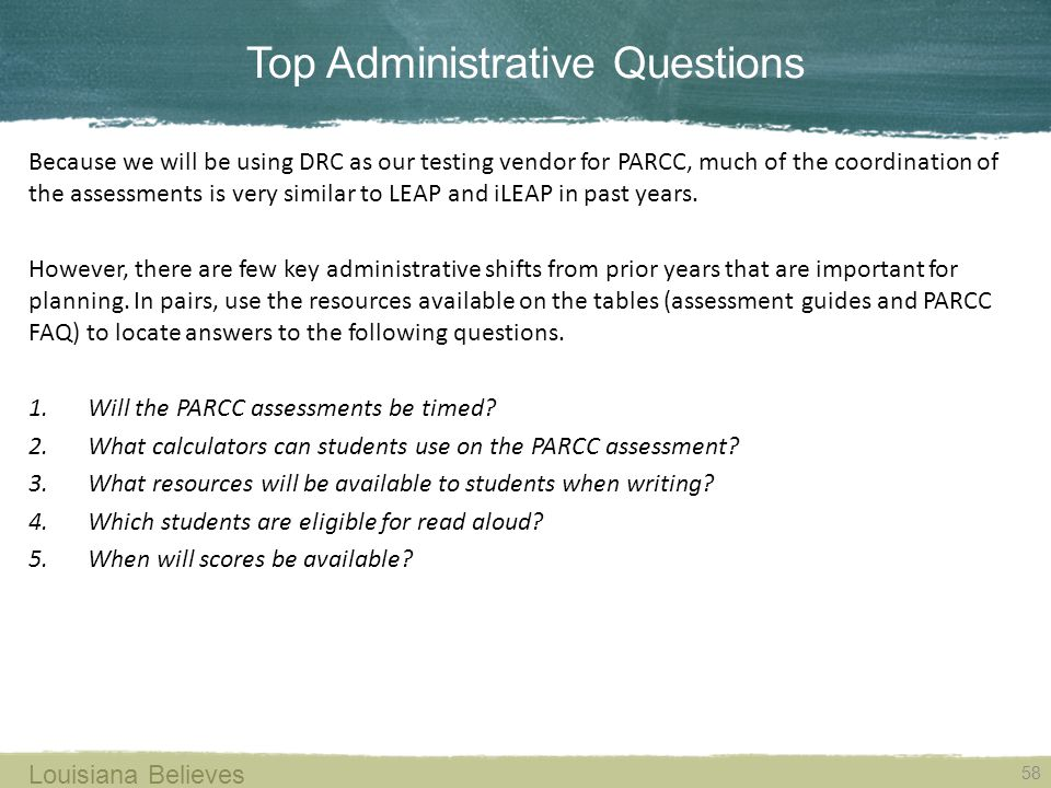 Top Administrative Questions