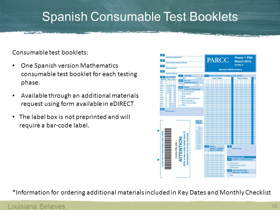 Spanish Consumable Test Booklets