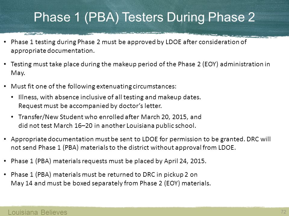 Phase 1 (PBA) Testers During Phase 2
