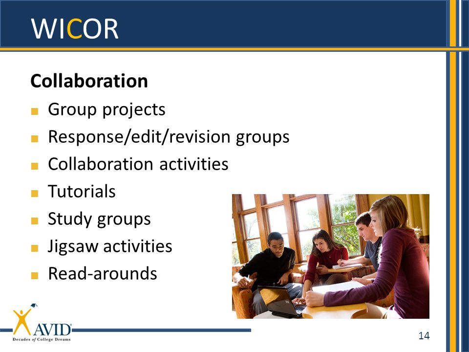 WICOR Collaboration Group projects Response/edit/revision groups