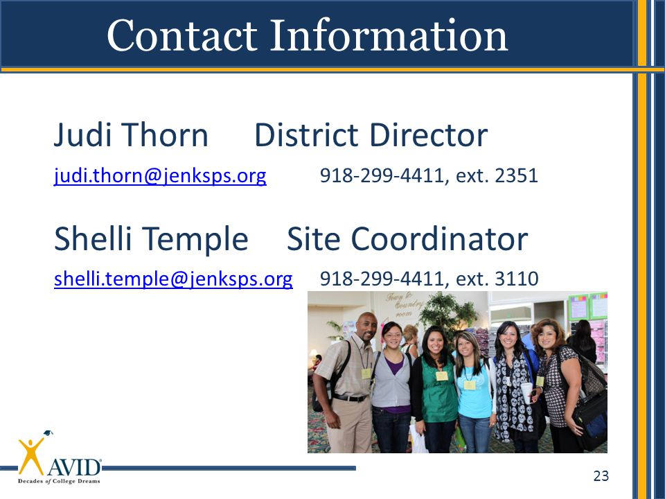 Judi Thorn District Director Shelli Temple Site Coordinator