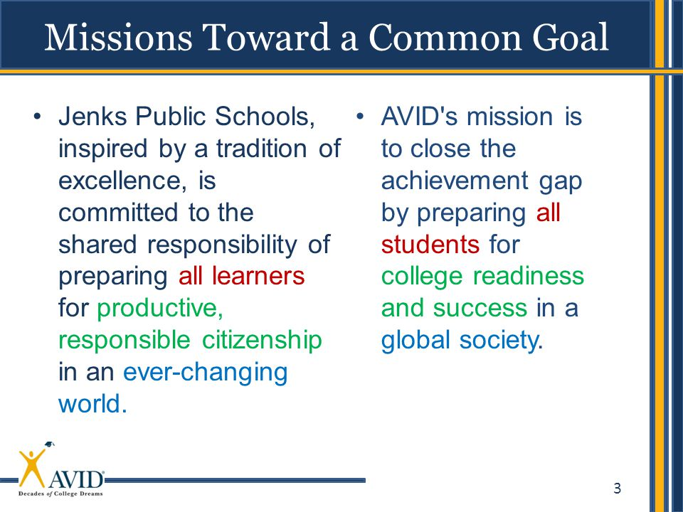 Missions Toward a Common Goal