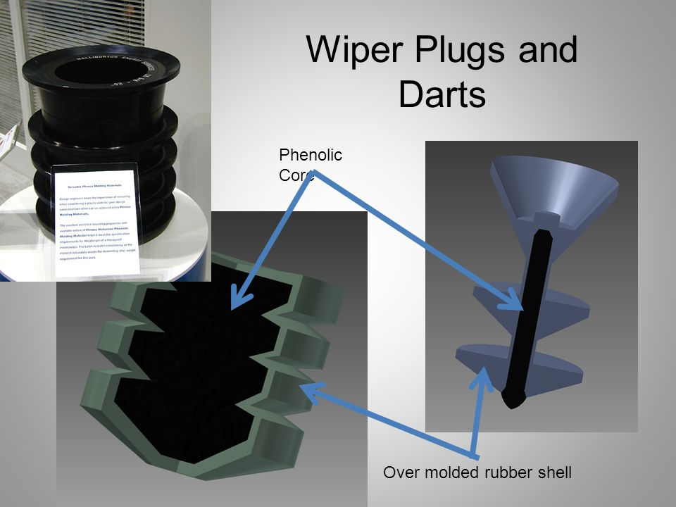Wiper Plugs and Darts Phenolic Core Over molded rubber shell