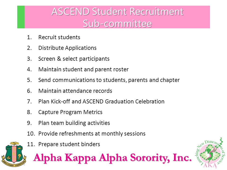 ASCEND Student Recruitment Sub-committee
