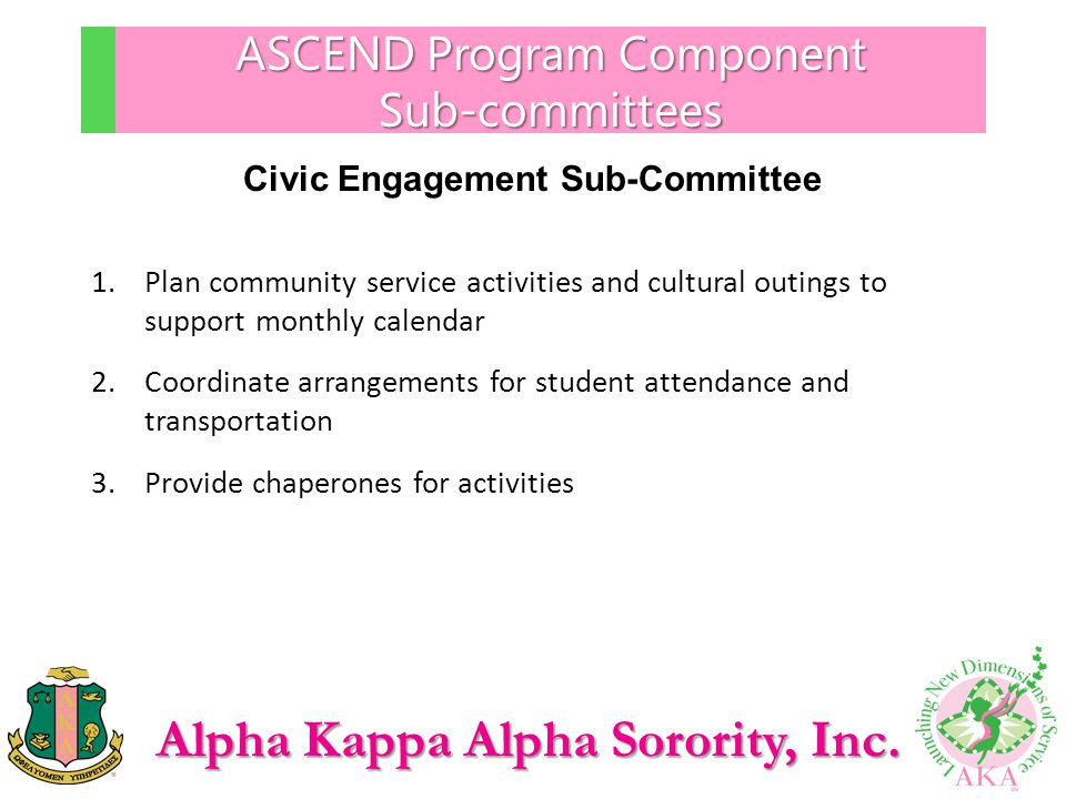 ASCEND Program Component Sub-committees
