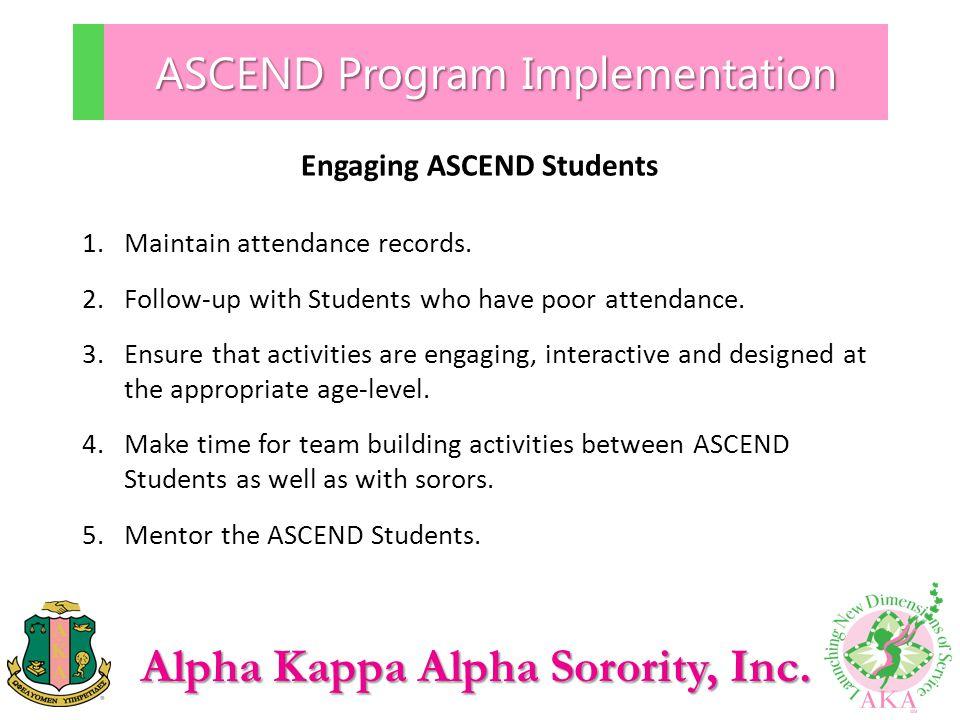 ASCEND Program Implementation