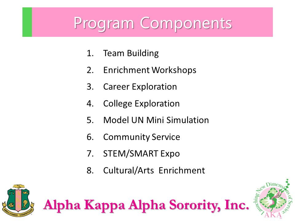 Program Components Team Building Enrichment Workshops