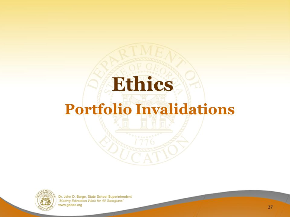 Portfolio Invalidations
