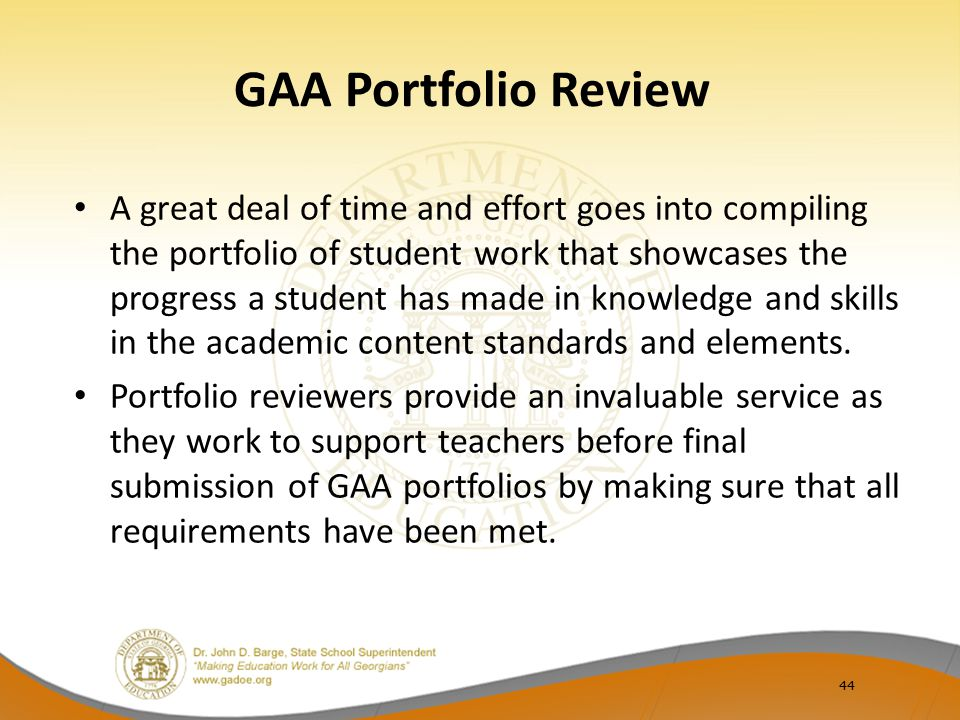 GAA Portfolio Review