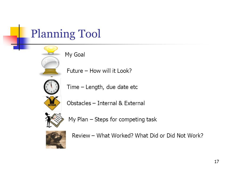 Planning Tool My Goal Future – How will it Look